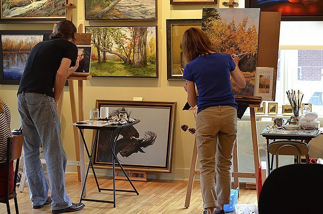 Painting and drawing courses at Galerie Vanasse in Saint-Lambert