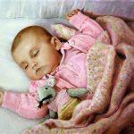 Eric Vanasse, «Baby_D», huile sur toile, 12×16