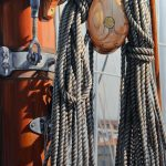 "Eric Vanasse, ""Cordages"", oil on canvas, 48 x 30 in"