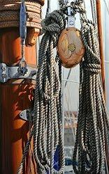Peinture de cordages de bateau par Eric Vanasse