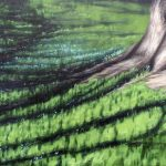 Jay Jensen, painting of a tree and grass