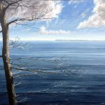 Jay Jensen, painting of a seascape