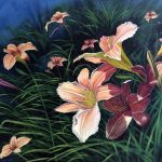 Jay Jensen, painting of daylilies