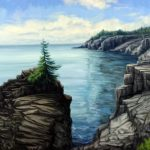 Jay Jensen, « View from West Quoddy », huile sur toile/oil on canvas, 20×26 po/in