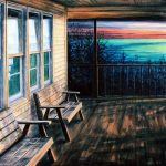 "Jay Jensen, ""Last Evening of Summer"", huile sur toile/oil on canvas, 18×24 po/in"
