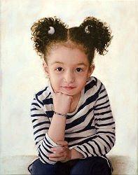 Portrait d'une fillette par Eric Vanasse