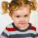 """Eric Vanasse, """"Little Miss V"""", oil on canvas, 18×14 in"""