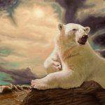 "Eric Vanasse, ""Losing Eden 5"", oil on canvas, 24 x 36 in"