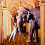 Eric Vanasse, Losing Eden 4, oil on canvas