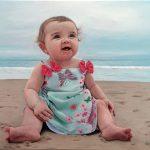 Portrait of Desjardins Baby by Eric Vanasse, oil on canvas, 12×16 in