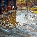 Pierre Tougas, Reflets d'automne (Aquarelle 8 x10 po / 20 x 25 cm)