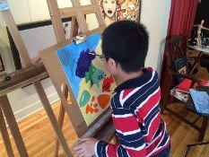 Cours de peinture acrylique pour enfant