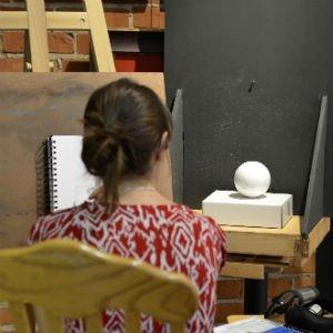 Classical drawing class at Atelier de la Galerie Vanasse