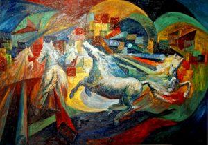 Peinture par Pierre Brault, Le carrousel