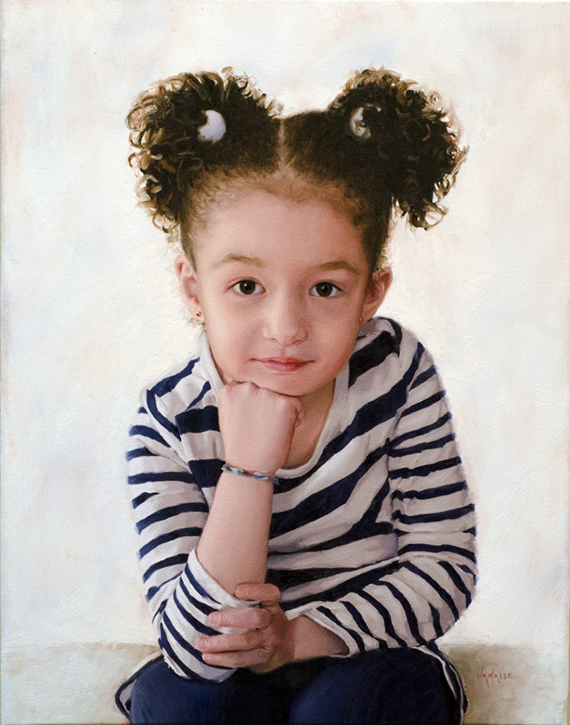 Little miss Q Oil Portrait